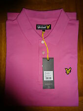 MENS LYLE & SCOTT VINTAGE POLO SHIRT PINK LARGE AND X/LARGE 042316