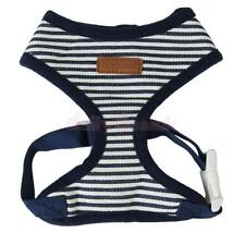 Dog Pet Striped Adjustable Harness Clothes Walk Collar Safety Strap Vest XS-XL