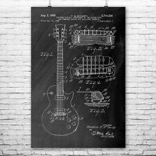 Gibson Les Paul McCarty Guitar Poster Patent Art Print Gift Guitarist Teacher