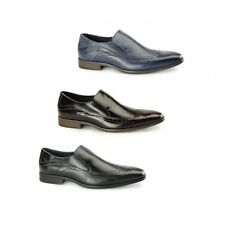 Azor VICENZA Mens Leather Smart Casual Cushioned Comfort Slip On Brogues Shoes