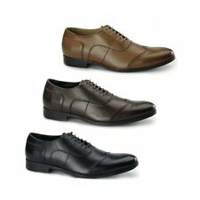 Azor MESSINA 2 Mens Leather Formal Office Lace Up Round Toe Oxford Brogues Shoes