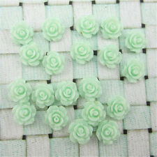 New 30pcs 7 Colors Resin Rose Flower flatback Appliques For DIY phone/craft