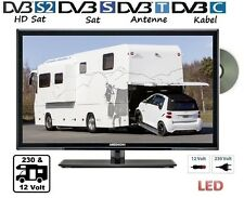 LED TV 24 Zoll 60cm FULL HD TV 12V 220 Volt DVD-Player DVB-C/T/S2 Camping WoMo