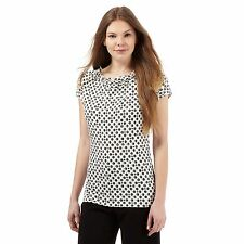 The Collection Womens Ivory Spotted Print Cowl Neck Top From Debenhams