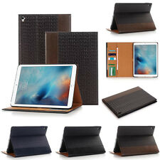 "For Apple iPad Pro 9.7"" Folio Textured Smart Leather Wallet Stand Cover Case"