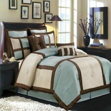 12PC-Morgan Comforter Set with matching skirt, shams & Cushions- ALL SIZES