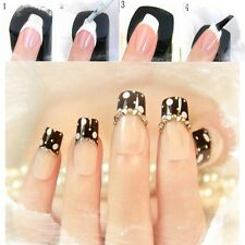 2x New Style DIY French Manicure Nail Art Tips Tape Sticker Guide Stencil FINE