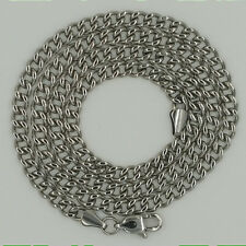 925 Sterling Silver Curb Chain Necklace for Men, Italian, 5 mm wide, Solid Thick