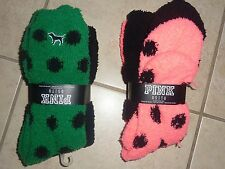 VICTORIAS SECRET PINK PLUSH SOFT KNEE HIGH ONE SIZE SOCKS 2 PACK FREE SHIP NWT