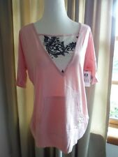 PLUS SIZE- Pink South Pole tee