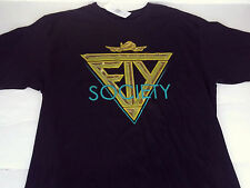 FLY SOCIETY black gold foil  TEE T-SHIRT MENS