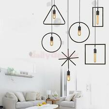 E27 Geometric Design Ceiling Wire Pendant Light Holder Lampshade Fixtures