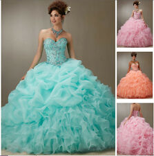New Beaded Quinceanera Dress Formal Prom Party Pageant Ball Dresses Bridal Gowns