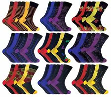 6 Pairs Mens Multi Coloured Antibacterial Anti Odour Bamboo Socks 7-11 Uk
