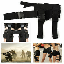 Hunting War Game Police Cosplay Tactical Puttee Thigh Leg Pistol Holster Pouch