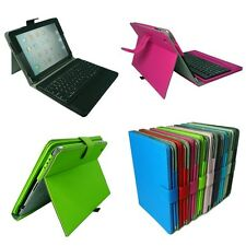 Removable Bluetooth Keyboard Folio Stand Leather Case Cover For iPad 2 / 3 / 4