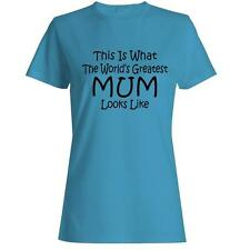 Worlds Greatest MUM Mothers Day Gift Womens T-shirt Present