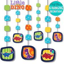 LITTLE DINO DINOSAUR BOYS 1ST BIRTHDAY PARTY SUPPLIES HANGING STRING DECORATIONS