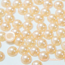 Peach (1.5mm - 12mm) Flatback Half Pearl Round Scrapbooking Nail Art Craft
