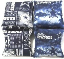 Dallas Cowboys Classic Silver Cornhole Bags Set of 8, Top Quality, Free Shipping