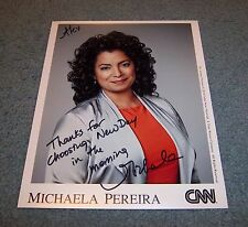 CNN Michaela Pereira Signed Autographed 8x10 Photo New Day A