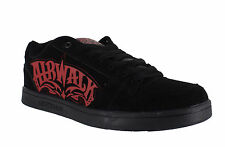 AirWalk Triple X Mens Black/Red Casual Skate Lace Up Padded Shoes Trainers