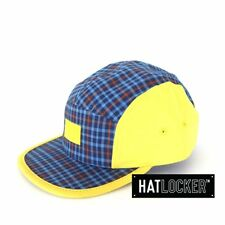 Crooks & Castles - Mad Plaid Blue Yellow 5 Panel