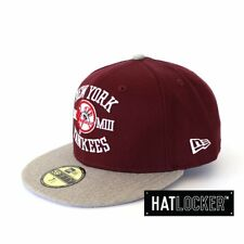 New Era - New York Yankees P&W Maroon 59Fifty Fitted