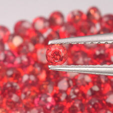 1.7mm Lot 6,10,20,50pcs Round Diamond Cut Calibrated Natural Orange Red SAPPHIRE