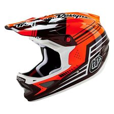 Troy Lee D3 Carbon Helmet Berzerk Red - Full Face Downhill DH Mountain Bike