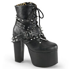 Demonia Torment-700 Strapped and Spiked Platform Heels - Gothic,Goth,Punk,Black,