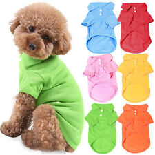 Pet Puppy Summer Polo Shirt Small Dog Cat Pet Clothes Costume Apparel T-Shirt FN