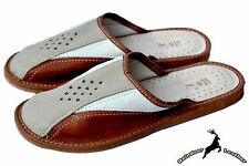 Mens Handmade Natural Leather House Slipper Sandal Mule Scuffs Orthopedic InSole