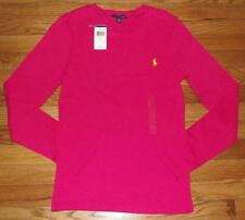 NWT Polo Ralph Lauren Womens PONY LOGO Long Sleeve T-Shirt PERFECT TEE Pink *V1