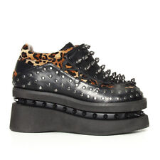 Hades Opion Cheetah Platform Spike Shoes - Gothic,Goth,Shoes,Steam