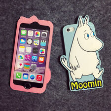 Soft Silicone Cute 3D Moomin Cases Skins Covers for Iphone Apple 5S 6S 6S Plus