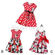 Minnie Mouse Princess Birthday Outfit Girls Dress Toddler Bow Skirt Kids Clothes