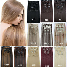 Clip in Hair Extensions Heat Resistant Straight Long Synthetic Hair Clip on Hair