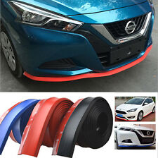 2.5m Car Front Bumper Spoiler Lip Kit Splitter Valance Chin Protector Body Guard