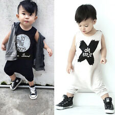 2016 Summer Baby Boy Girl Clothes Baby Romper Letters Baby Cotton Clothing 0-24M