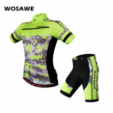 Hot Bike Cycling Racing Suit Mens Jersey Shorts Padded Sports Short Sleeve Suit