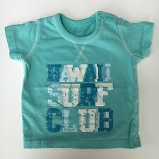 Matalan Baby TShirt Age 6-9 Months Pale Blue With Logo 100% Cotton