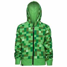 Minecraft Creeper Premium Youth Zip Up Hoodie NEW Sweater Jacket