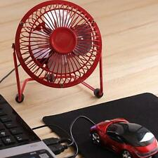 "4"" Metal Mute Portable Mini USB Cooling Desk Fan Cooler PC Laptop Computer MKLG"