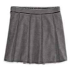 NWT!! AMERICAN EAGLE AE BLACK & WHITE STRIPED PLEATED CIRCLE SKIRT SIZE MEDIUM!!