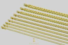 """1.5mm-5mm 14k Rope Diamond Cut Solid Yellow Gold Chain Necklace Unisex 16""""-30"""""""