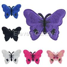 Butterfly Embroidered Applique Iron On Patch Sewing Clothes Kids DIY Accessories