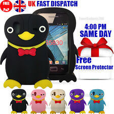 PENGUIN SILICONE GEL CASE & FREE SCREEN PROTECTOR Fits Galaxy Ace S5830