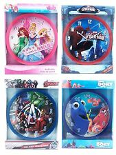OFFICIAL DISNEY MARVEL KIDS WALL CLOCK BEDROOM DORY AVENGERS PRINCESS SPIDERMAN