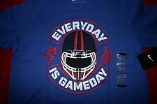 BOYS NIKE FOOTBALL HELMET SHIRT EVERY DAY IS GAME DAY BLUE YOUTH LARGE S/S NWT